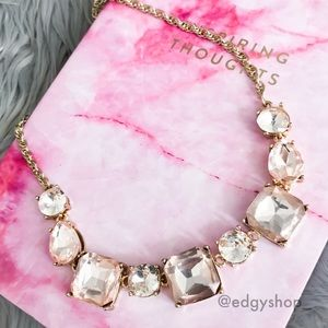 [express] mixed stone short chain necklace